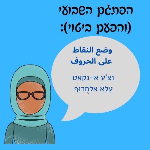דיבר ברור ושם את הנקודות על האותיות. ביטוי בערבית מדוברת